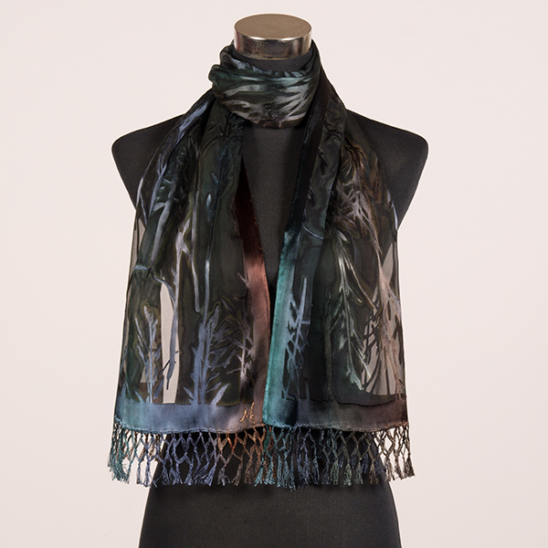 australian bush 2 mf painted silk scarves