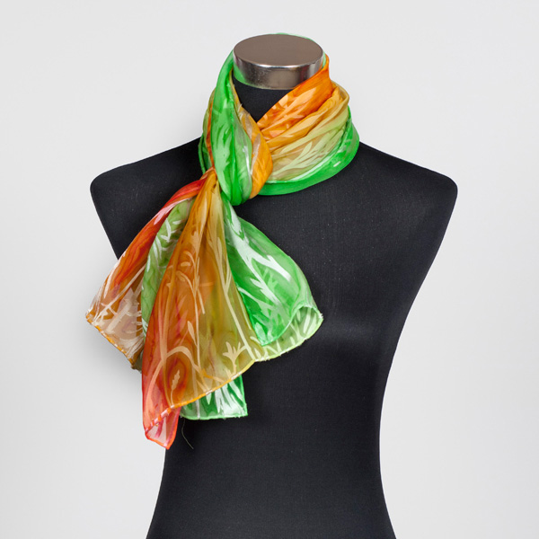 Citrus Delight Hand Painted Silk Scarf by Marlyse Carroll