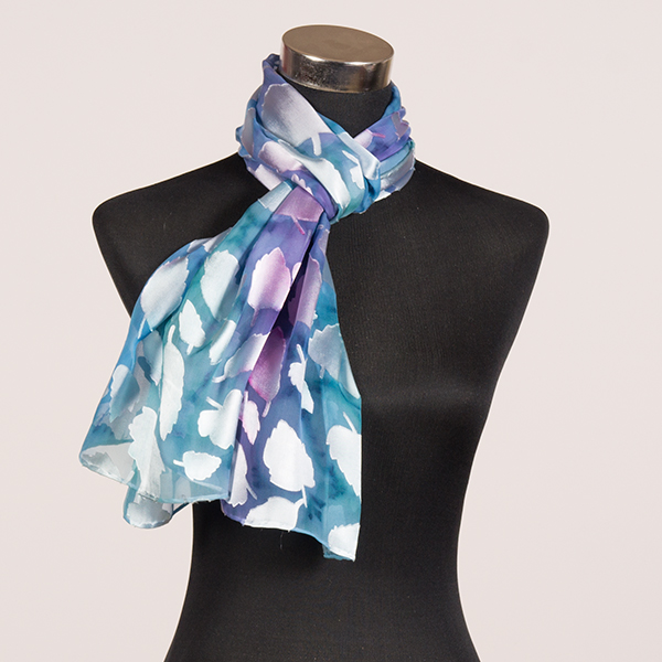 Fleeting Memories M Hand Painted Silk Scarf by Marlyse Carroll