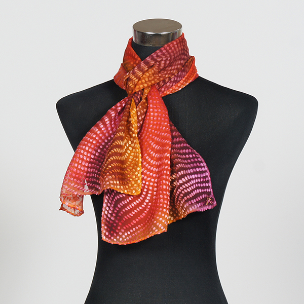 Glow M Hand Painted Silk Scarf by Marlyse Carroll