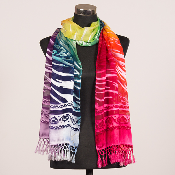 Love and Light XL Hand Painted Silk Scarf by Marlyse Carroll