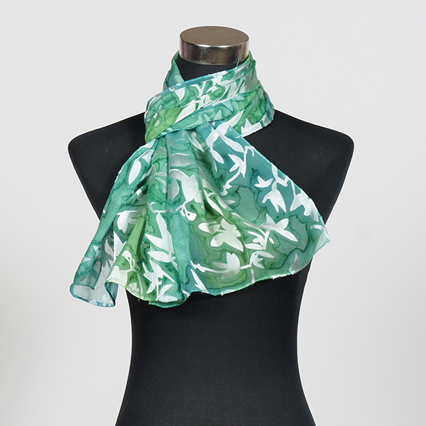 Morning Breeze1 M Hand Painted Silk Scarf by Marlyse Carroll