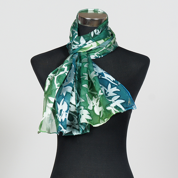 Morning Breeze2 M Hand Painted Silk Scarf by Marlyse Carroll