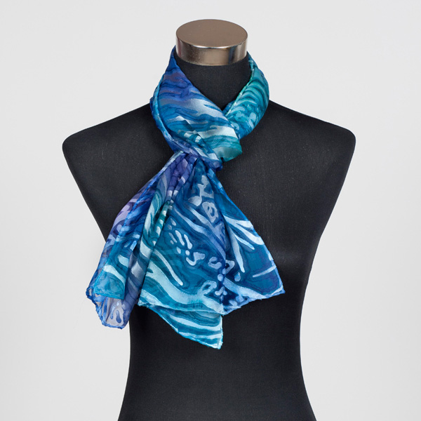 Ocean Paradise M Hand Painted Silk Scarf by Marlyse Carroll