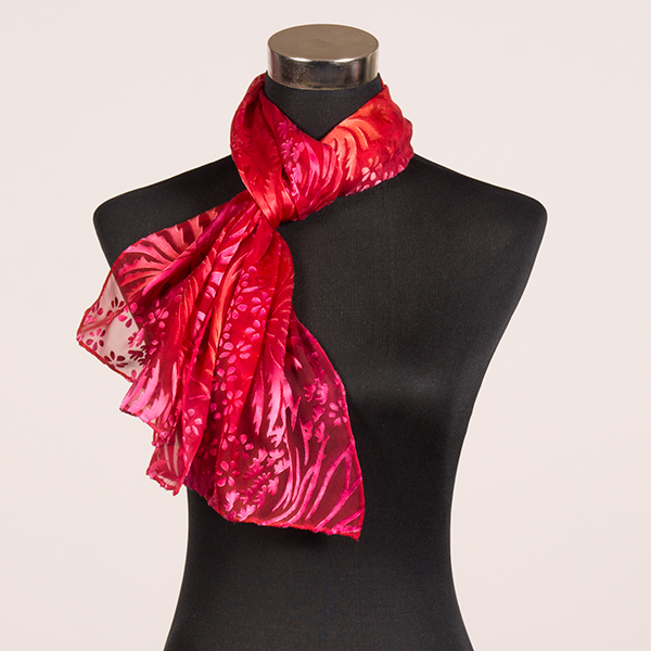 Passion M Hand Painted Silk Scarf by Marlyse Carroll