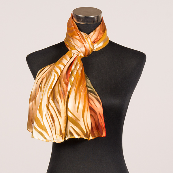 Sunshine M Hand Painted Silk Scarf by Marlyse Carroll