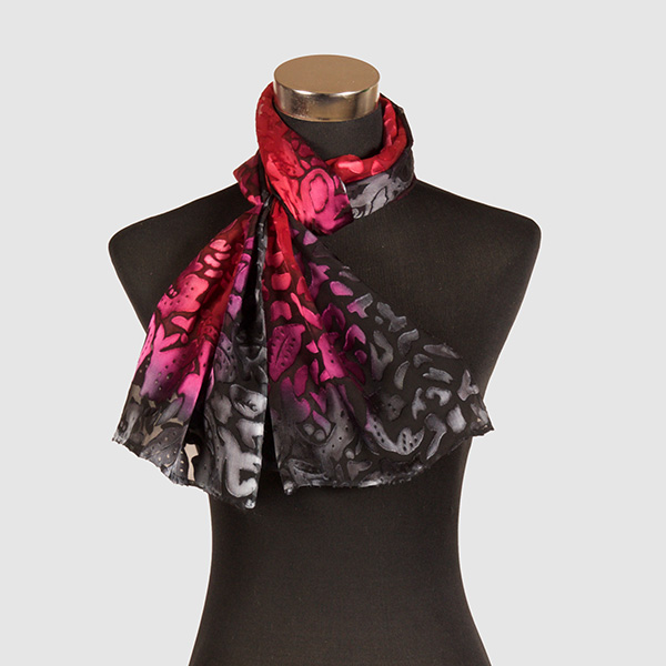 Embers M. Hand Painted Silk Scarf by Marlyse Carroll